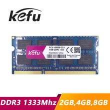KEFU ddr3 memory 4gb 2gb 8gb 1333 pc3-10600 so-dimm laptop, 4gb ddr3 1333 pc3 10600 sdram notebook, memoria ram ddr3 4gb 1333mhz(China)