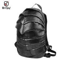 a42f73c342790 2016 Men Women Backpack 3D Bag Beetle Snakeskin Pattern School Bag 13  Laptop Bag Travel Backpack