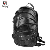 Brilljoy2018 Men Women Backpack 3D Bag Beetle Snakeskin Pattern School Bag 13 Laptop Bag kanken Travel Backpack Student Bag U94