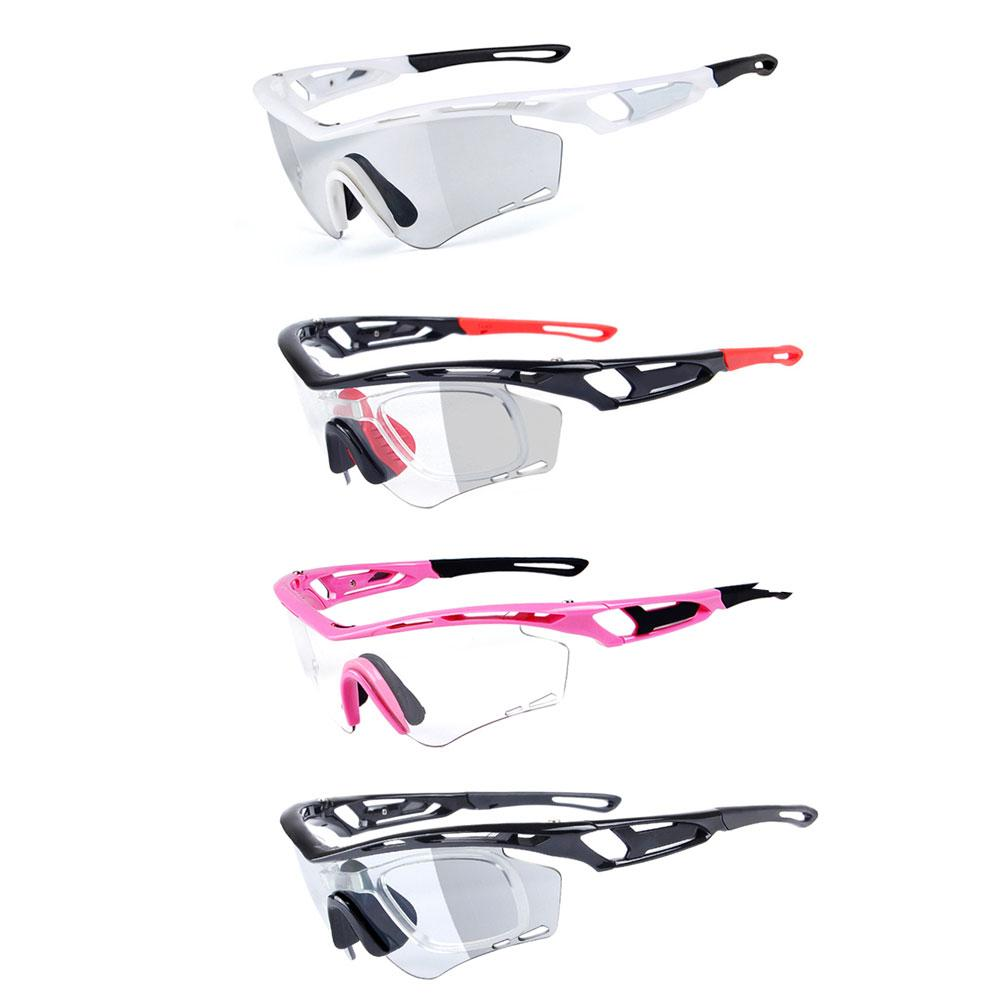 Photochromic Lenses Sports Windproof Glasses Goggles Set Riding Glasses Cycling Equip Anti-UV Sunglasses High Quality 4 Colors new safety welding cycling riding driving glasses sports sunglasses protect goggles high quality free shipping