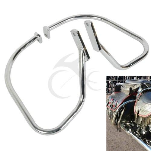 TCMT Sacoche Garde Crash Bar Pour Harley Softail Heritage Springer FLSTS 1997-1999 1998 Moto Arrière Gardes