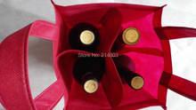 1000 шт/лот нетканый напитков 4 сумка для винных бутылок 750