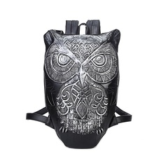 Women Backpack 2016 Newest Stylish Cool Black PU Leather Owl Backpack Female Hot Sale Women Bag In Stock Fast Shipping A3653