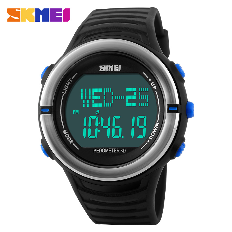 Pedometer Heart Rate Monitor Calories Counter Digital Watch Fitness For Men Women Outdoor Wristwatches Skmei Sports Watches skmei men sports health watches 3d pedometer heart rate monitor calories counter 50m waterproof digital led mens wristwatches