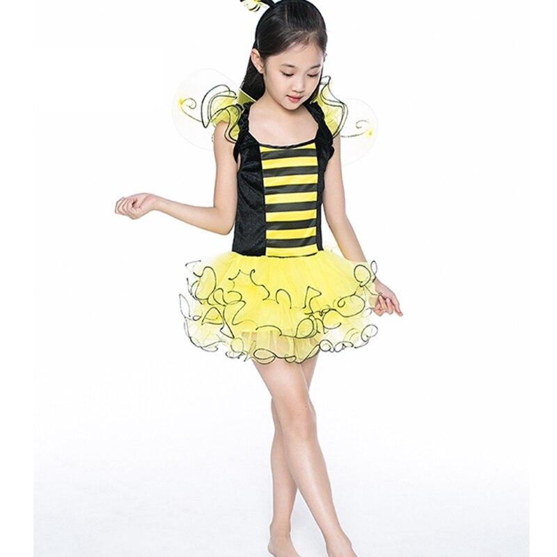 Kinder Ballroom Dance Kostüm Little Bee Firefly Leistung Service Tier Kostüm