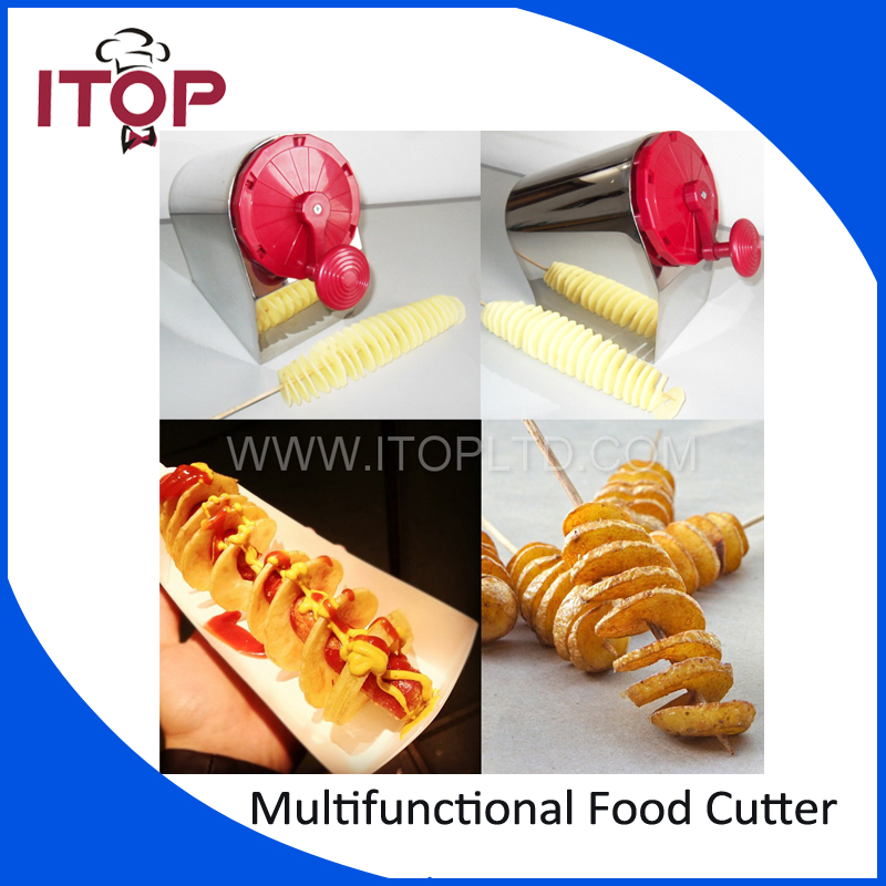 Free Shipping Stainless Steel Manual Twisted Potato Slicer Spiral Potato Slicer Cutter 3 in 1 Tornado Vegetable Cutting Machine руководство twisted картофеля фри из нержавеющей стали slicer овощей