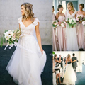 Bohemian Hippie Style Wedding Dresses 2017 for Sale Design with Long Skirts 2017 Cheap Boho Chic Beach Country Bridal Gowns WE-D