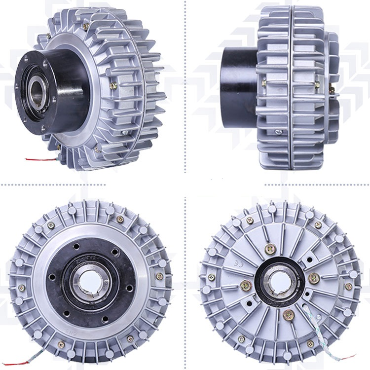 25n.m Magnetic Powder Clutch flange Input/hollow Shaft Output/hollow Shaft Install/rotational Shell