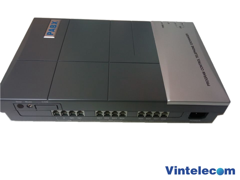 China PBX factory -VinTelecom CS208 MINI PBX / SOHO PBX / Small PABX for small business solution small 100