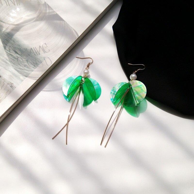 Geometry 1 Word Cross Earrings Three-Dimensional Original Fashion Korean Temperament Long Retro Female Earrings Female