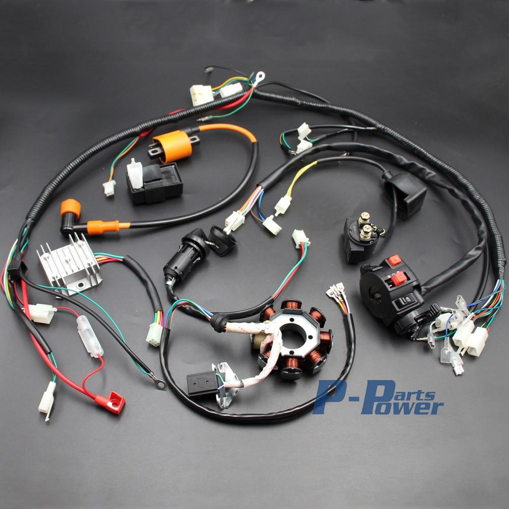 complete electrics atv quad 150cc 200cc 250cc 300cc 3 holes stator cdi coil wire harness zongshen [ 1000 x 1000 Pixel ]
