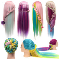 1PC Sale Synthetic Hairdressing Hair Training Salon Show Model Fake Head Female Mannequin Head Making Birthday Hairstyle Braids