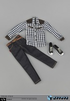 1 6 Scale Doll Accessories Clothes Shirt Jeans Shoes Man Clothing For 1 6 Scale Action