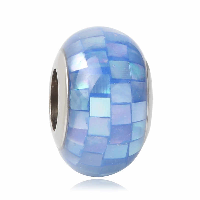 เหมาะกับ Pandora Charm สร้อยข้อมือ 2019 จัดส่งฟรีใหม่ Mickey 925 Silver Murano Glass สีสันสดใส DIY เครื่องประดับลูกปัด