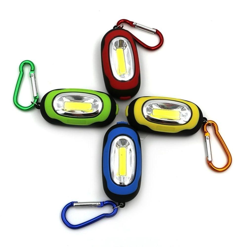 LED Flashlight Light 3-Mode Mini Lamp Key Chain Ring Keychain PVC Lamp Torch Keyring Green/Red/Yellow/Blue