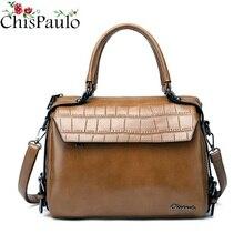 女性バッグデザイナーブランドの女性の本革ハンドバッグ牛革レディースクロスボディバッグ女性のメッセンジャーバッグ CHISPAULO X80