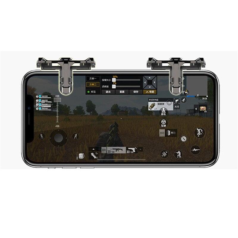 Unterhaltungselektronik Einfache Bedienung Metall Spiel Griff Telefon Mobile Gaming Trigger Feuer Taste Griff Für L1r1 Shooter Controller Für Pubg Für Huhn Spiel Rheuma Und ErkäLtung Lindern