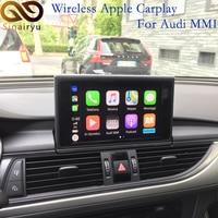 Sinairyu Wireless Apple Carplay/Android auto Solution for Audi Q2 Q5 A4 A5  A6 A7 Q7 A3 Q3 B9 MMI with Reverse Camera for Audi
