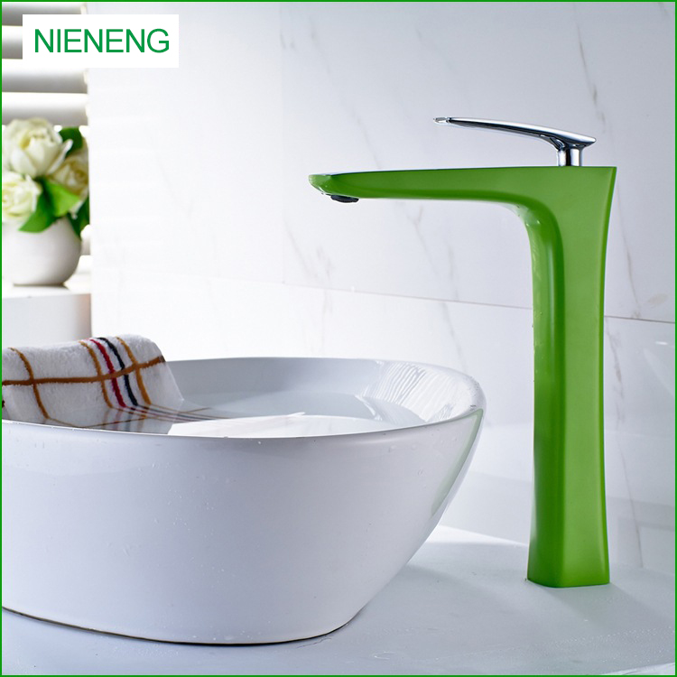 NIENENG bathroom sink faucet painting modern WC bath washroom half ...