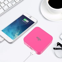 Aigo Mini Portable 10000mAh 3 7V Dual USB Port Power Bank Large Capacity For Mobile Phone