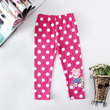 2016 Summer Baby Clothes Kids Childrens printing dots Toddler Classic Leggings girls pants Girls legging 2-6Y baby girl leggings