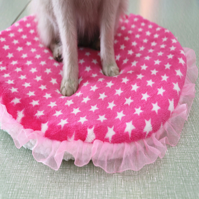 Colorful print  Dog Beds  Warm Soft Blanket For Small Medium Pet Cat Sleeping Mat Mattress Cushion 42x42cm 5