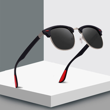 2019 Brand Design Fashion Semi Rimless Polarized Sunglasses Men Women Classic Half Frame Sun Glasses UV400 Oculos De Sol P3016 цена и фото