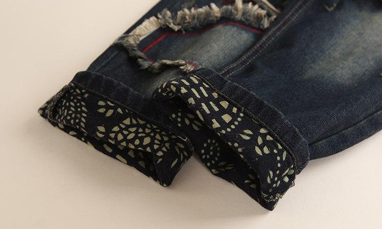 Floral Alta Harén Mujer De Denim Algodón Las Cintura 1 Pantalones Vaqueros Mujeres 2019 Nuevos Estampado Con Jean Bordado Z77Bqwx