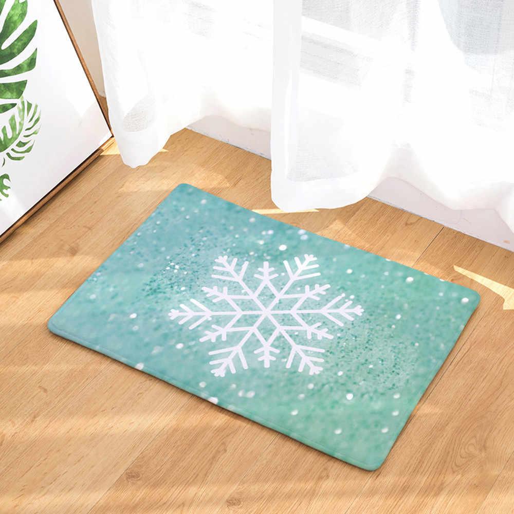 عيد الميلاد المنزل أرضية باب الحصير قاعة سجاد المطبخ الحمام السجاد ديكور 40X60 cm مقاومة للاهتراء دائم غير زلة الحصير