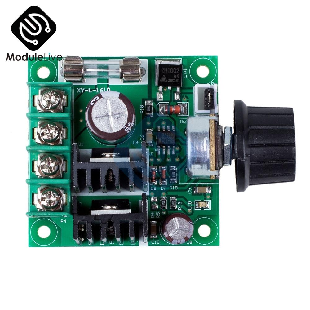 12V-40V 10Amp PWM DC Motor Speed Controller Dimmer Voltage Regulator with Knob