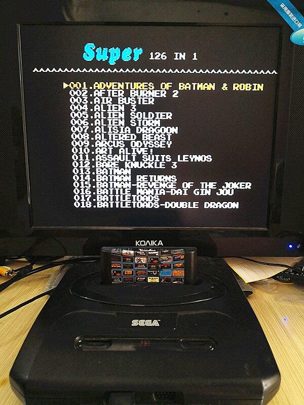 Купить с кэшбэком 126 in 1 for Sega Megadrive Genesis Game card with Super Marioed Batman & Robin Battle Mania Contra Sonic Shinobi Pulseman