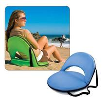 (2pcs/lot)Floor Folding Fishing Chair Beach Sitting Cushion Seat  Adjustable Lightweight Portable Sport Camping Chair For Picnic