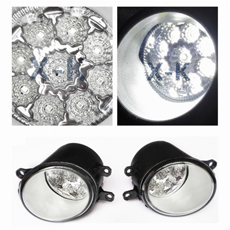 For TOYOTA RACTIS MPV SCP10 NCP10  2007-2009  Car-Styling Led Light-Emitting Diodes DRL Fog Lamps for lexus rx450h awd 2010 2013 car styling led light emitting diodes drl fog lamps