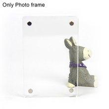Настенный Прозрачный Магнитный домашний съемный подарок мини акриловый стикер для холодильника декоративная фоторамка высокий светильник