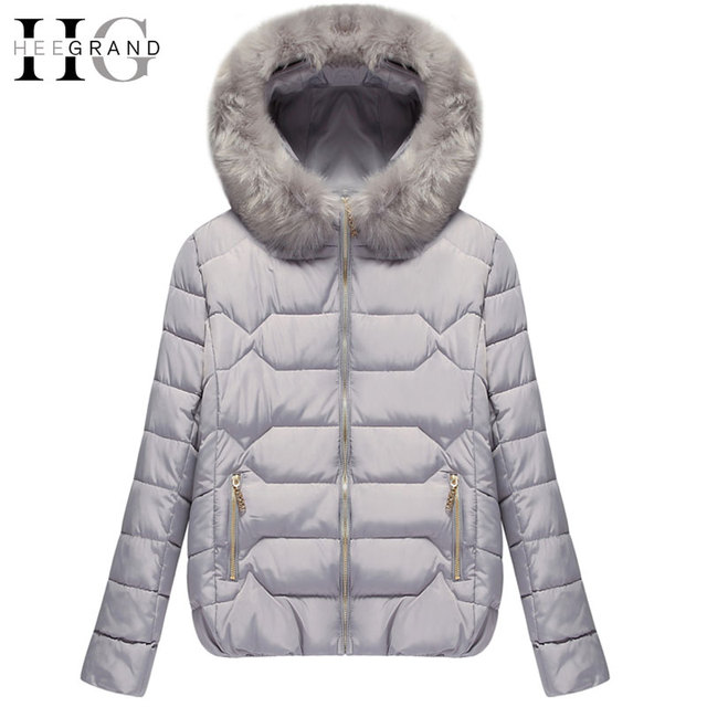 HEE GRAND 2016 Thick Down Mulheres Casaco De Inverno Warm Cotton Fur Hooded Women Parkas Short Oversized  Winter Coats  WWM1438
