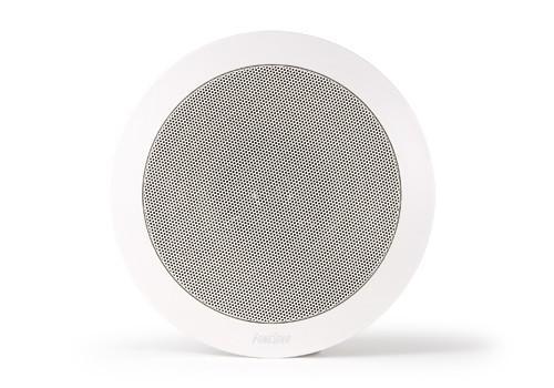 Haut-parleur Hi-Fi coaxial Fonestar encastré rond avec écran étincelle, pour système PA, diamètre 194mm, couleur blanche