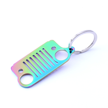 2017 Style 4 Colors Grill Zinc Alloy Metal Key Chain For Jeep Wrangler Car Gift