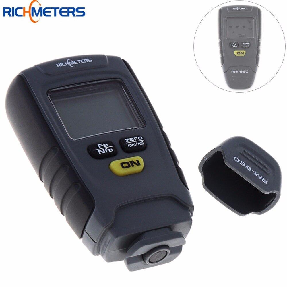 RM660 Digital Paint Schichtdickenmessgerät LCD Fühlerlehre Tester Fe/NFe 0-1,25mm für Auto Instrument eisen Aluminium Basis Metall