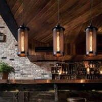 Estilo retro e27 lâmpada led luzes pingente de metal design malha única cabeça pendurado pingente para casa cafe hotel loft corredor