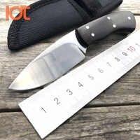 LDT couteau fixe miroir 440 lame manche bois couteaux droits Camping tactique Mini couteau poche EDC survie chasse outils