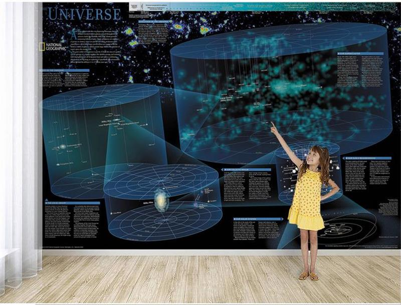 Custom mural wallpaper room 3d photo wallpaper science fiction universe map 3d photo sofa TV background wall non-woven wallpaper цена и фото