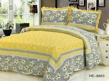 100% Cotton Washed Quilt Pastoral style 3piece Bed Cover set High end Bedclothes bedding set bedspread