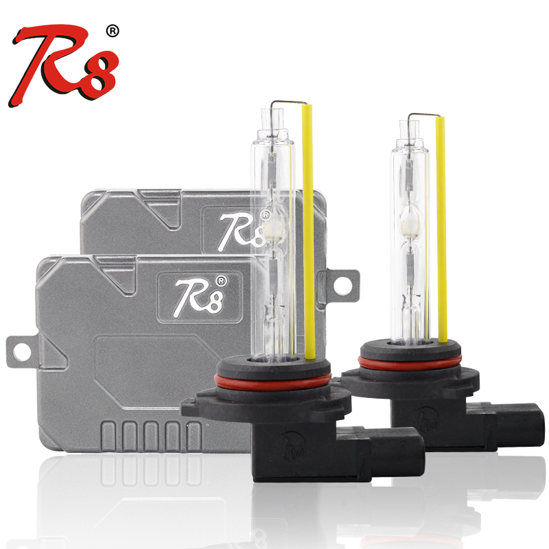 R8 Brand 5500K Warm White High Quality Fast Bright Xenon Kits <font><b>H7</b></font> H11 H8 HB3 HB4 881 9012 HID Lights H4 9004 H/L EMC Ballasts 55W image