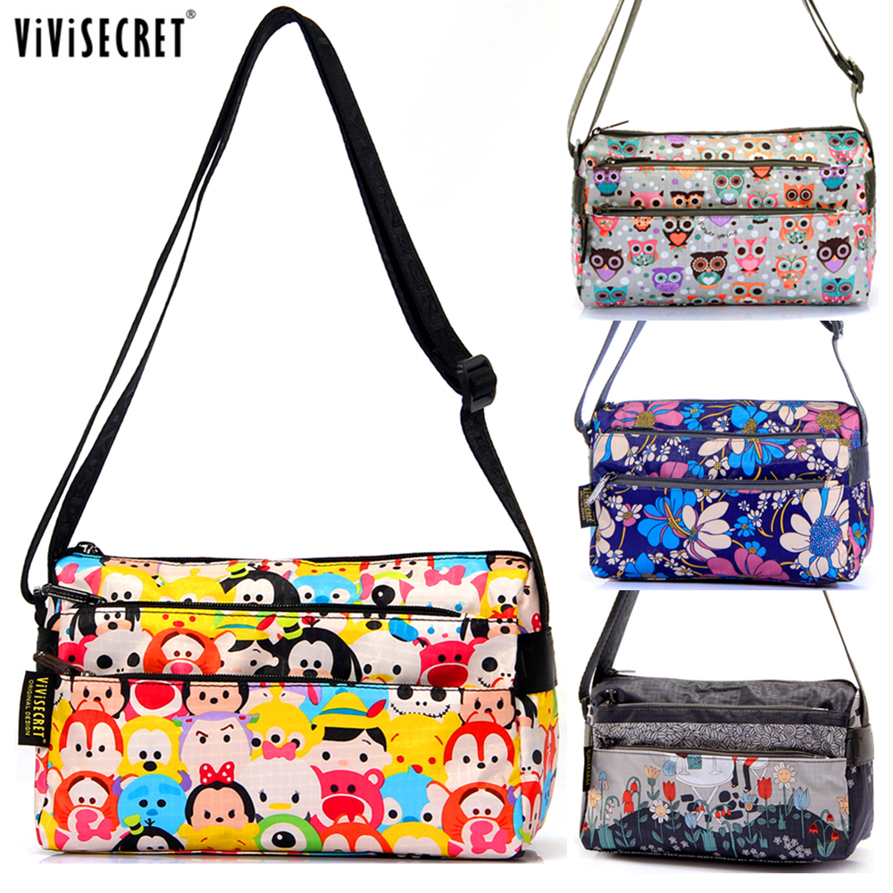 Wanita Messenger Bags Handbag Lady Causal Kecil Cross Body Floral Kartun Tsum Bag Hobo Mujer Bag For Girl Bolsa Feminina Purse
