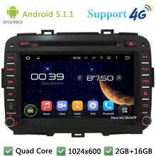 Quad Core 8″ 1024*600 2DIN Android 5.1.1 Car Multimedia DVD Player Radio Screen FM DAB+ 3G/4G WIFI GPS Map For KIA Carens 2013