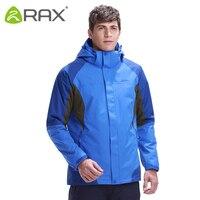 Мужская Флисовая Куртка RAX  водонепроницаемая ветрозащитная куртка для походов  Ветровка 3 в 1  теплое пальто для женщин и мужчин  43-1A039