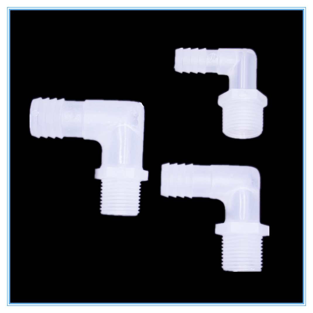 1/8 1/4 3/8 1/2 3/4 Male Thread Outer Tooth Pagodas Elbow Outside Of The Tower Bend Hose Plastic Fittings
