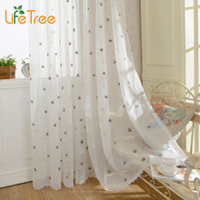 2016 New Snowflake Embroidered Curtain Voile for Living Room Kitchen Window Treatment Bedroom White Snow Faux Linen Custom Made