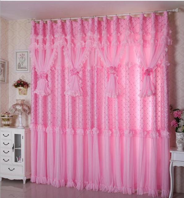 window lace curtains custom made luxury valances korean curtains set ...