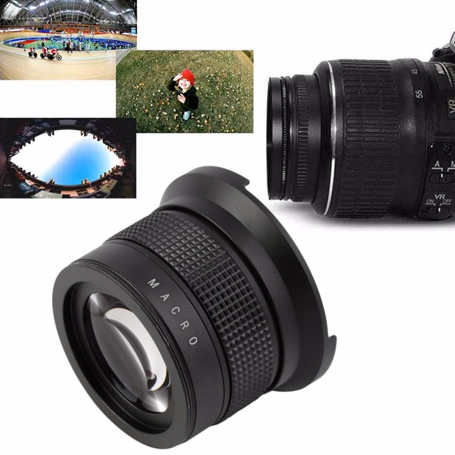 NEW 0.35X58MM Camera Super HD Wide Angle Fisheye Lens With Macro for Canon EOS In stock!